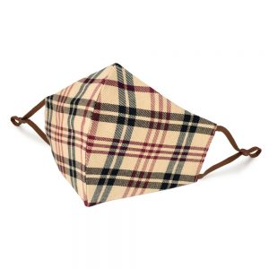Face Mask Muted Plaid Made With Cotton by JOE COOL