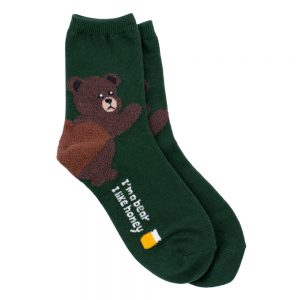 Socks Bear Heel Made With Cotton & Spandex by JOE COOL
