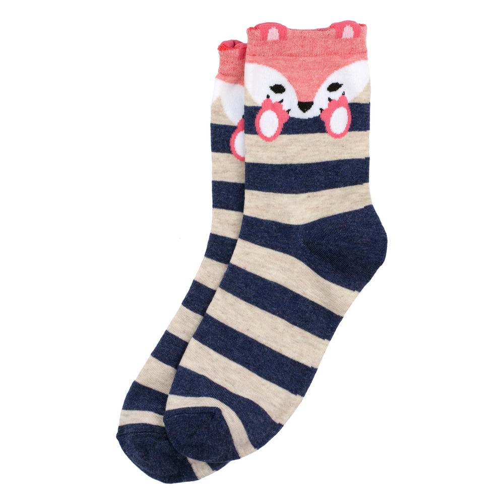 Socks Fox Stripe Made With Cotton & Nylon by JOE COOL