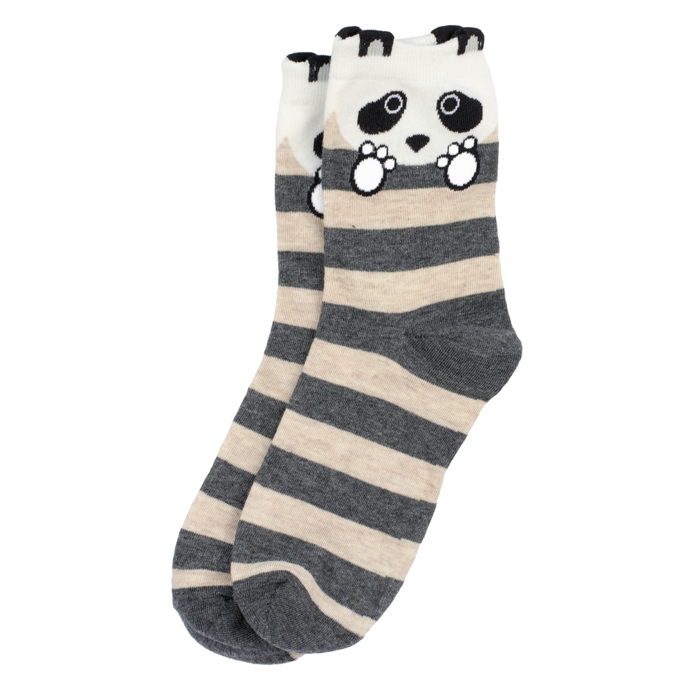 Socks Panda Stripe Made With Cotton & Nylon by JOE COOL