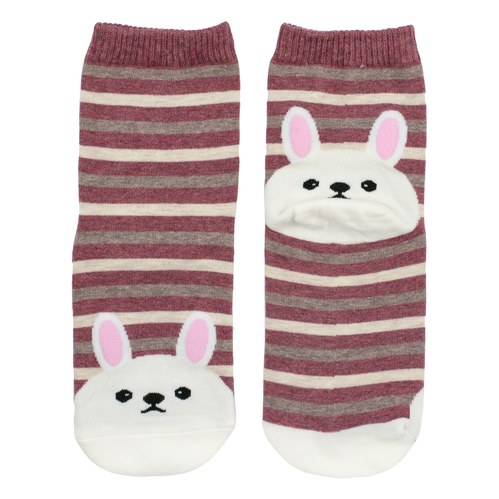 Socks Bunny Stripe Made With Cotton & Nylon by JOE COOL