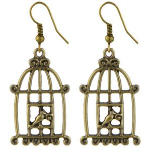 Drop Earring Bird Cage Made With Zinc Alloy by JOE COOL