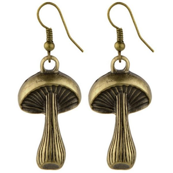 Drop Earring Mushroom Made With Zinc Alloy by JOE COOL