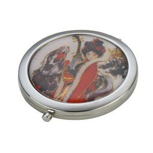 Compact Mirror Geisha Girl Made With Iron by JOE COOL