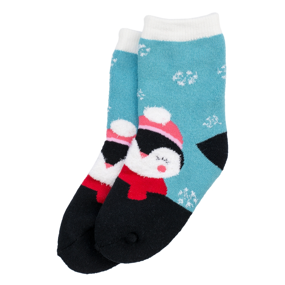 Socks Kids Winter Penguin 6-8 Years Made With Cotton & Spandex by JOE COOL