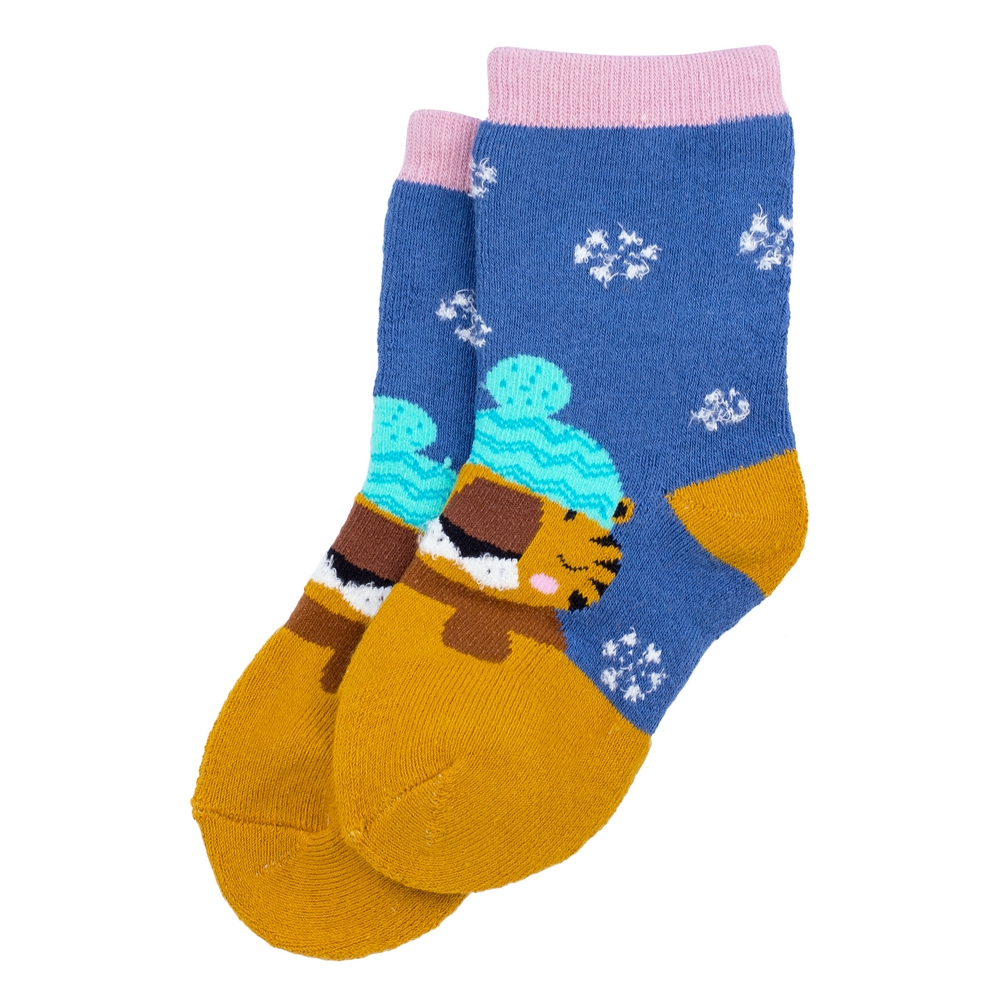 Socks Kids Winter Tiger 6-8 Years Made With Cotton & Spandex by JOE COOL