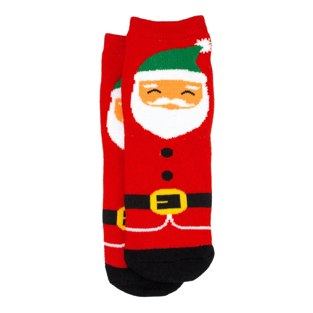 Socks Kids Santa Age 1-2 Made With Cotton & Spandex by JOE COOL
