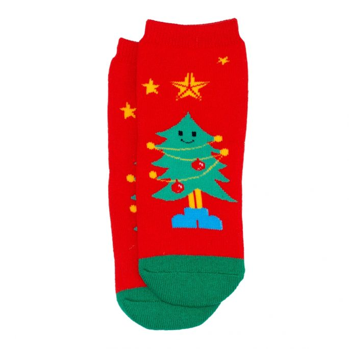 Socks Kids Tree Age 1-2 Made With Cotton & Spandex by JOE COOL