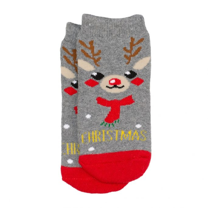 Socks Kids Reindeer  Age 5-6 Made With Cotton & Spandex by JOE COOL