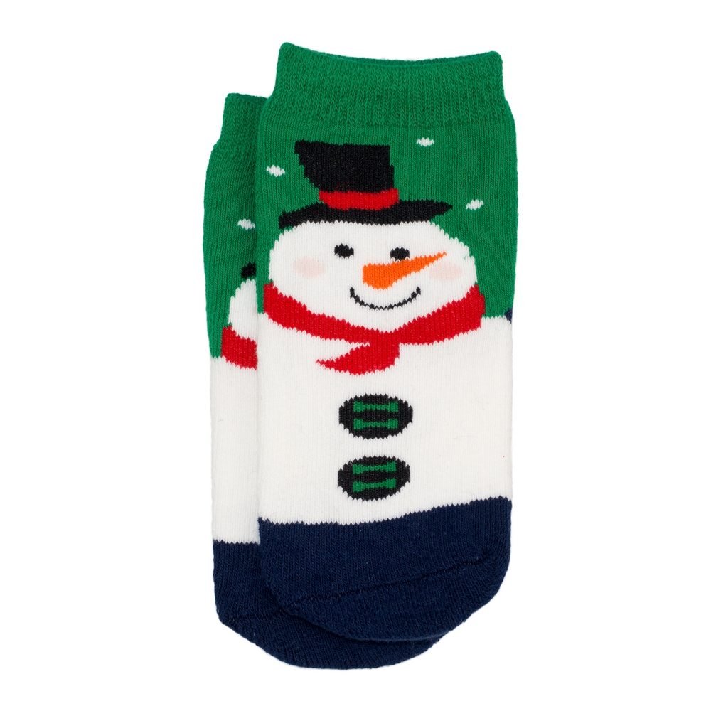 Socks Kids Santa Age 5-6 Made With Cotton & Spandex by JOE COOL