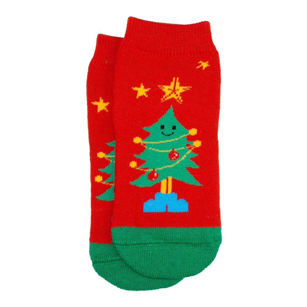 Socks Kids Christmast Tree Age 5-6 Made With Cotton & Spandex by JOE COOL