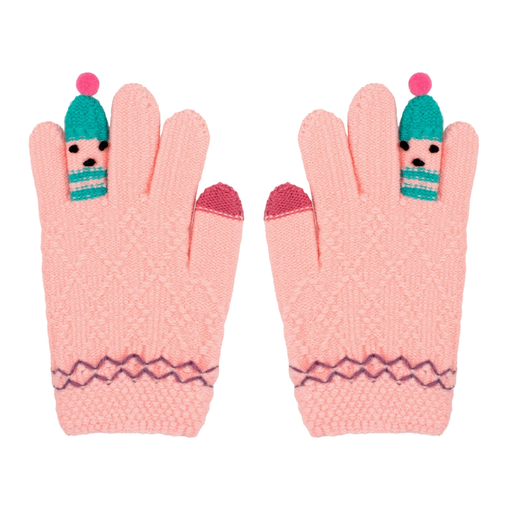Gloves Bobble Finger Age 3-8 Made With Acrylic by JOE COOL