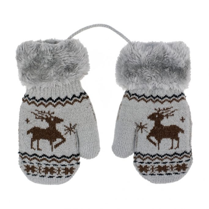 Gloves Scandi Deer Age 0-3 Made With Acrylic by JOE COOL
