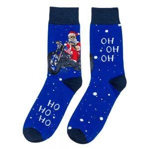 Socks Biker Santa Made With Cotton & Nylon by JOE COOL