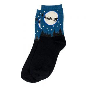 Socks Moonlight Santa Made With Cotton & Nylon by JOE COOL