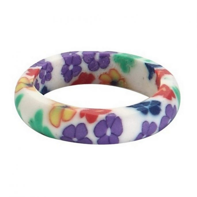 Ring Handmade Floral Band Made With Fimo by JOE COOL