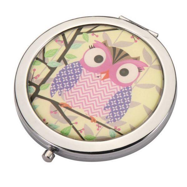 Compact Mirror Twit Twoo Made With Iron by JOE COOL