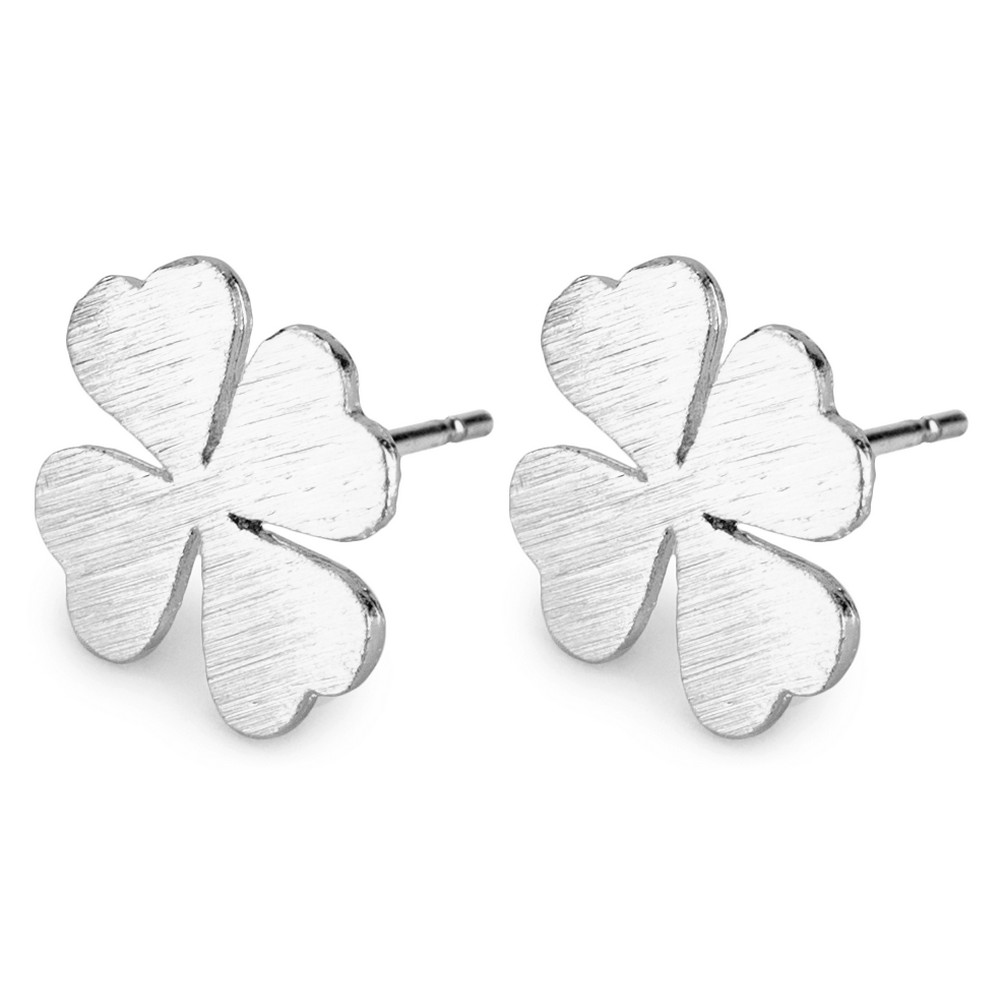 Stud Earring Four Leaf Clover Made With Tin Alloy by JOE COOL