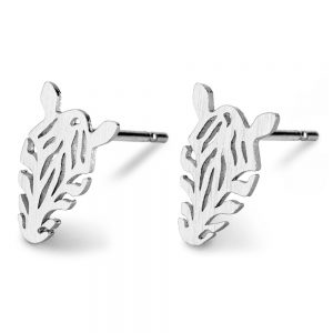 Stud Earring Zebra Made With Tin Alloy by JOE COOL