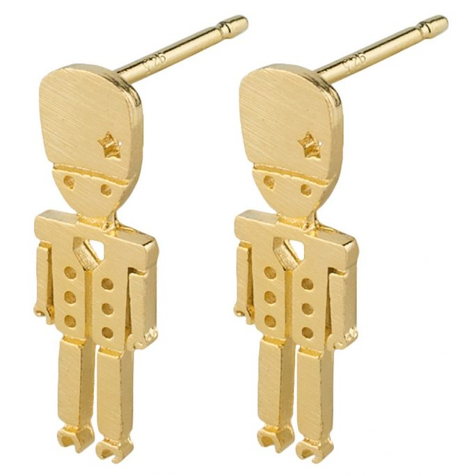 Stud Earring Toy Soldier Made With Tin Alloy by JOE COOL