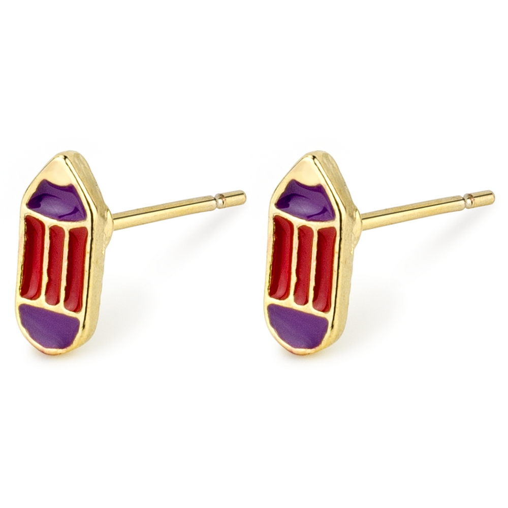 Stud Earring Dainty Coloured Pencil Made With Tin Alloy by JOE COOL