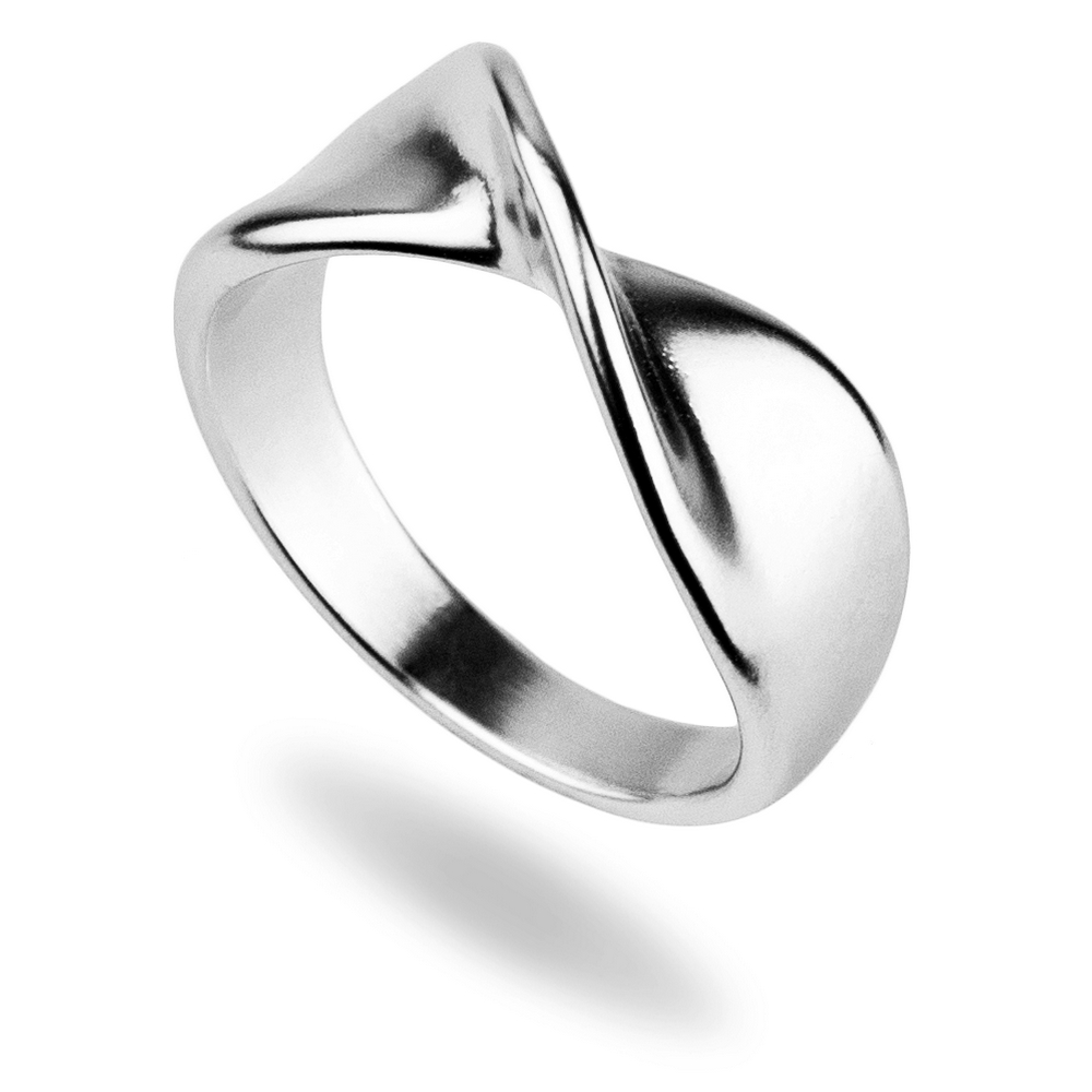 Ring Subtle Twist Made With Tin Alloy by JOE COOL