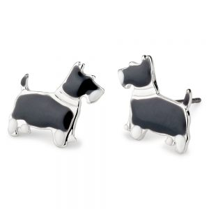 Stud Earring Dog Made With Tin Alloy & Enamel by JOE COOL
