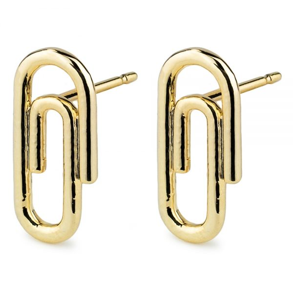 Stud Earring Paperclip Made With Tin Alloy by JOE COOL