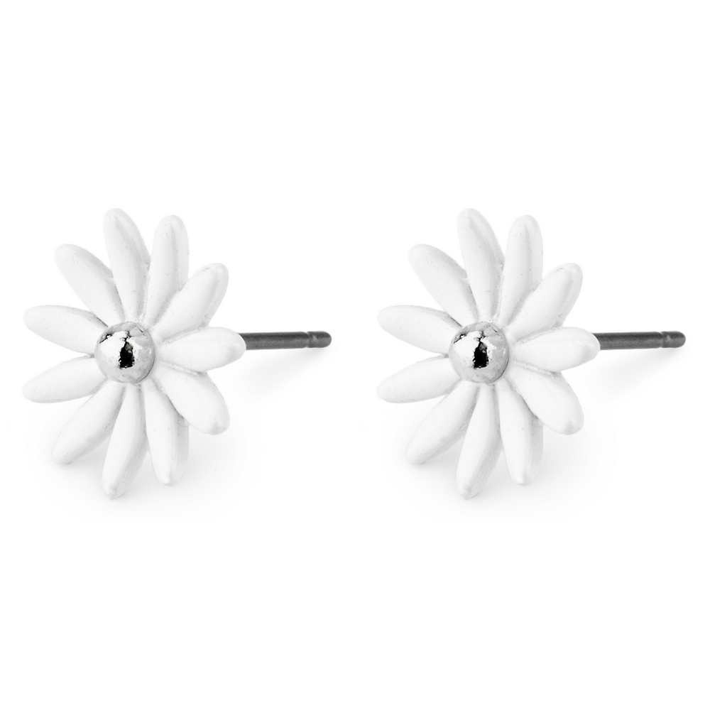 Stud Earring Petite Daisy Made With Tin Alloy & Acrylic by JOE COOL