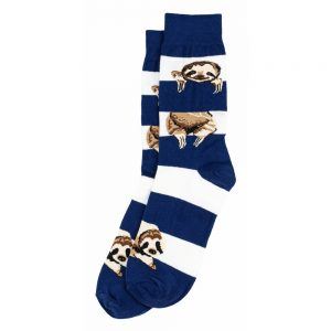 Socks Gents Stripe Sloth Made With Cotton & Spandex by JOE COOL