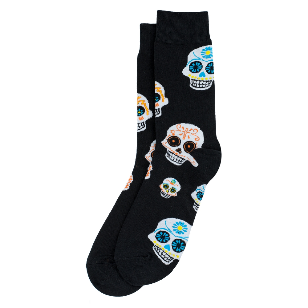 Socks Gents Day Of The Dead Made With Cotton & Spandex by JOE COOL