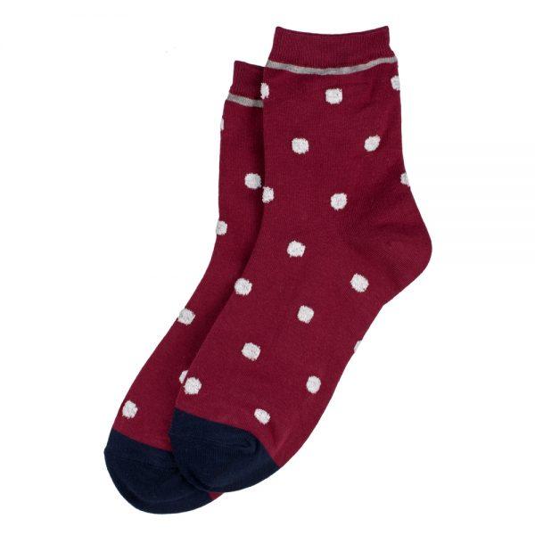 Socks Petit Polka Trim Made With Cotton & Spandex by JOE COOL