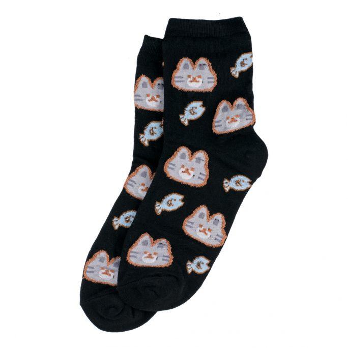 Socks Kawaii Cats Treats Made With Cotton & Spandex by JOE COOL