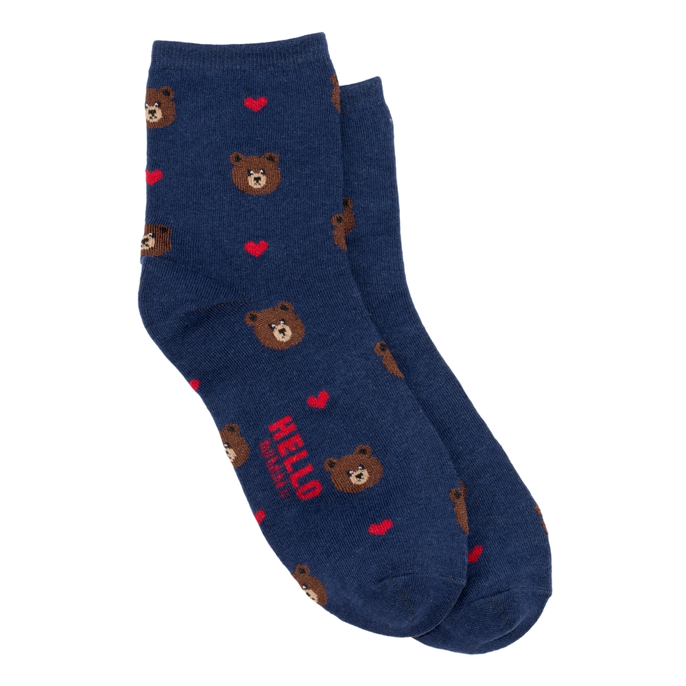 Socks Bear Love Made With Cotton & Spandex by JOE COOL