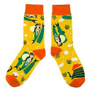 Socks Mystic Mermaid Made With Cotton & Spandex by JOE COOL