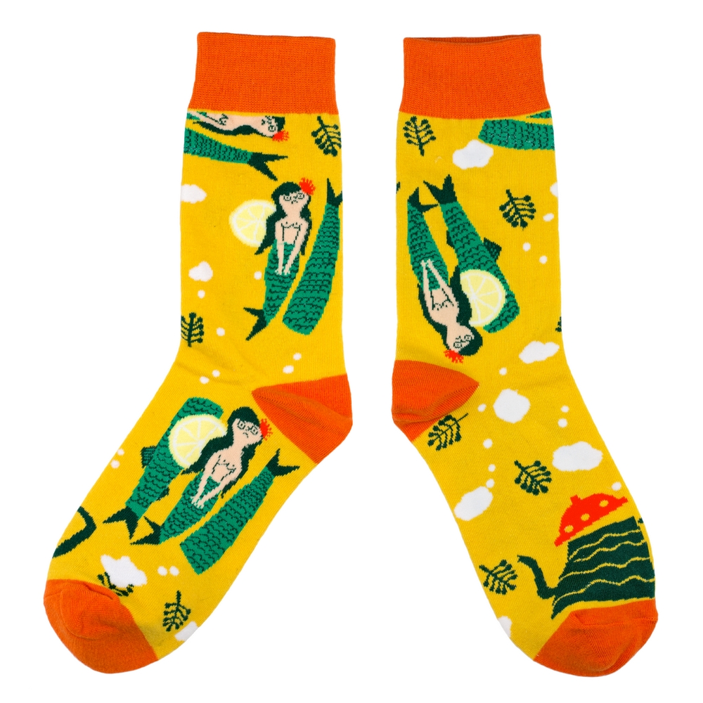 Socks Mystic Mermaid Made With Cotton & Spandex by JOE COOL