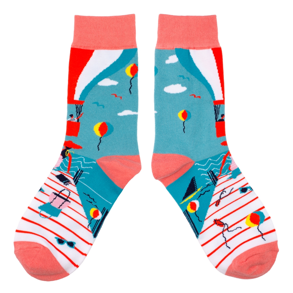 Socks Pier Party Made With Cotton & Spandex by JOE COOL