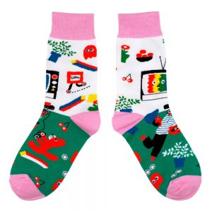 Socks Foxy Fun & Games Made With Cotton & Spandex by JOE COOL