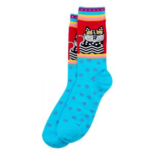 Socks Mexi Black Cat Made With Cotton & Spandex by JOE COOL