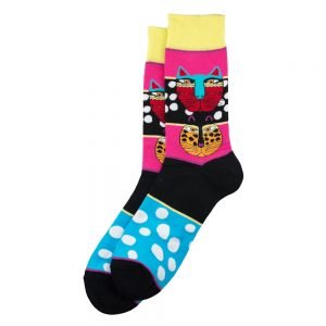 Socks Mexi Cats Made With Cotton & Spandex by JOE COOL