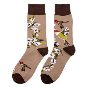 Socks Blossom Hummingbird Made With Cotton & Spandex by JOE COOL