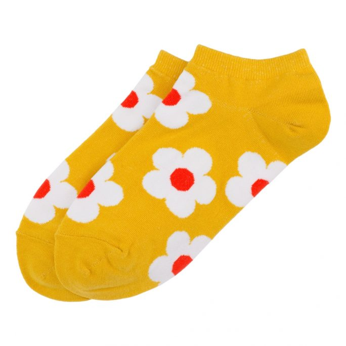 Socks Ankle Fab Flower Made With Cotton & Spandex by JOE COOL