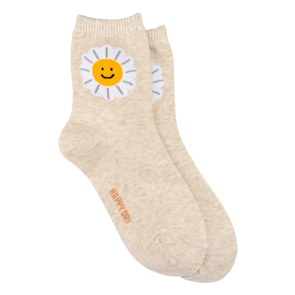 Socks Happy Sunshine Made With Cotton & Spandex by JOE COOL
