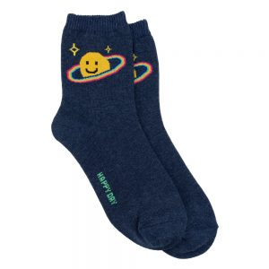 Socks Smiley Saturn Made With Cotton & Spandex by JOE COOL