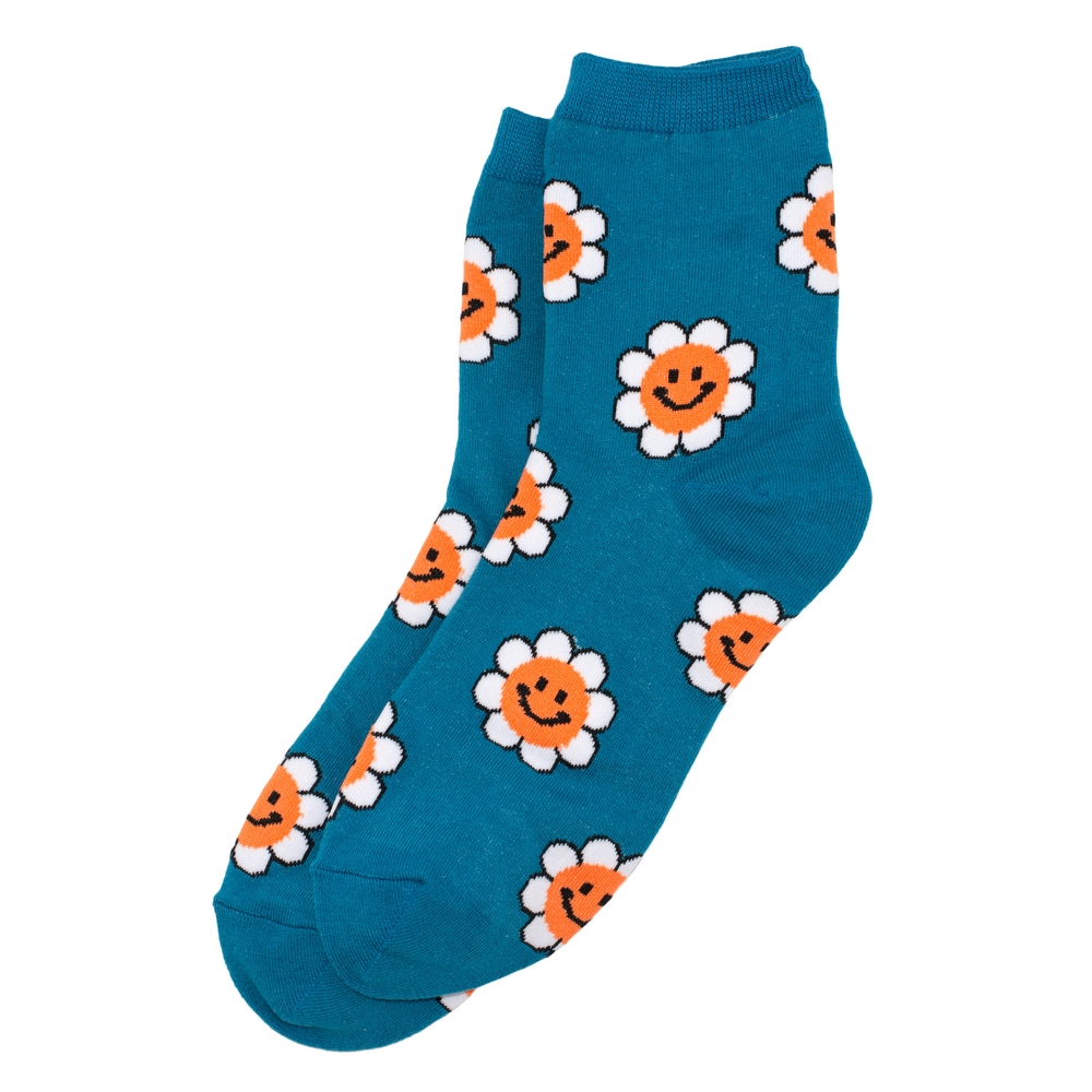 Socks Smiley Flower Made With Cotton & Spandex by JOE COOL