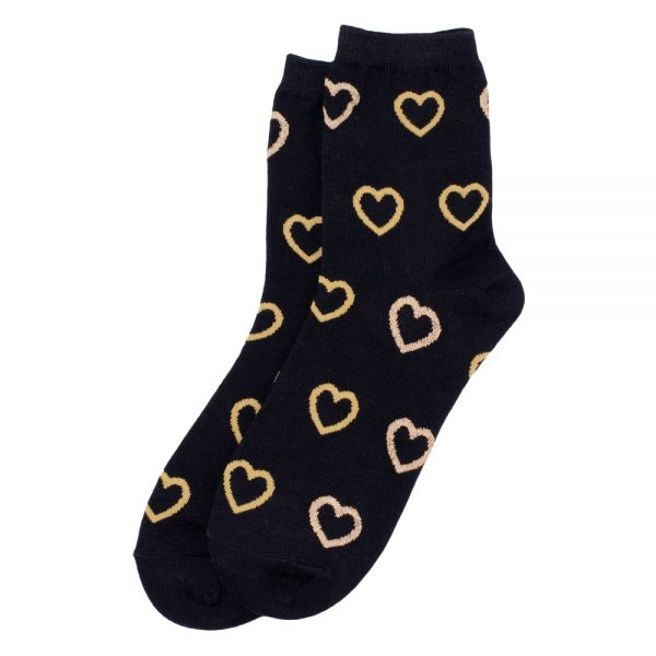 Socks Gilt Edge Heart Made With Cotton & Spandex by JOE COOL