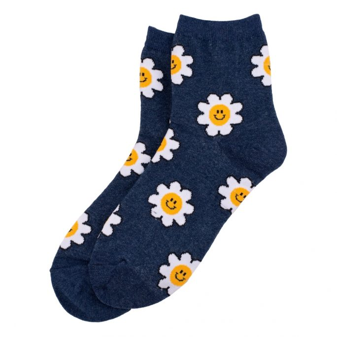 Socks Blooming Cheerful Made With Cotton & Spandex by JOE COOL