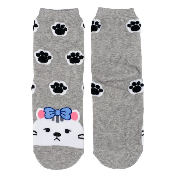 Socks Kawai Kitty Paws Made With Cotton & Spandex by JOE COOL