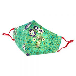Face Mask Gilded Green & Blue Made With Cotton by JOE COOL