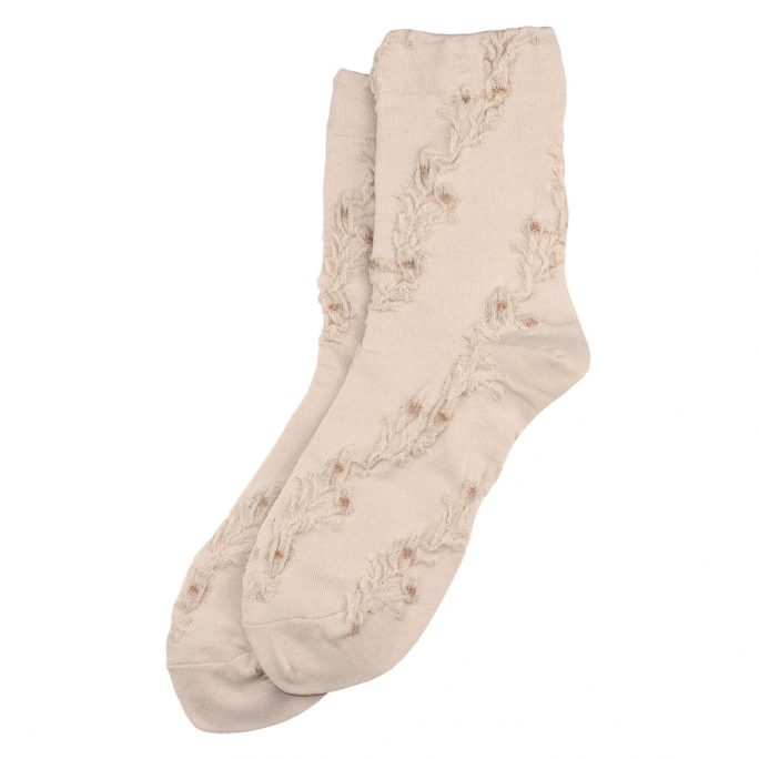 Socks Ripple Petit Fleur Made With Cotton & Spandex by JOE COOL